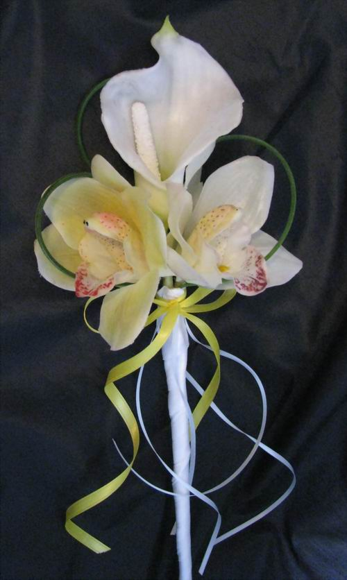 Natural Touch Calla Orchid Arm Bouquet