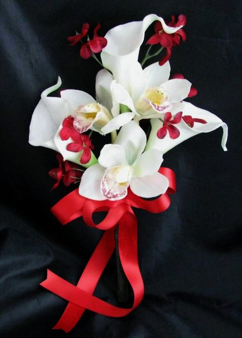 Natural Touch Pew Decoration Calla Lily Orchid