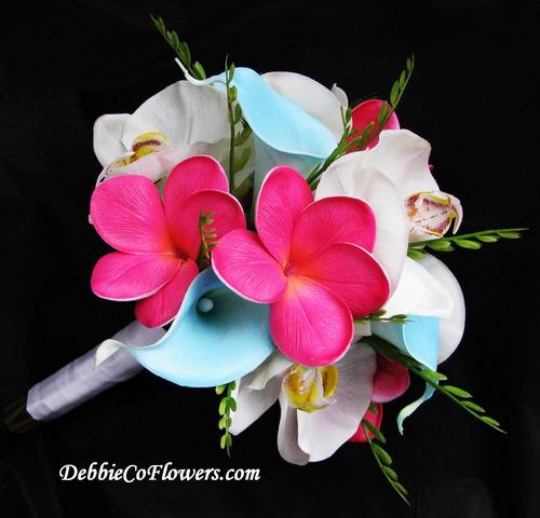 Real Touch Bouquet Calla Orchid Plumeria