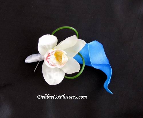 Boutonniere Real Touch Looped Calla Orchid