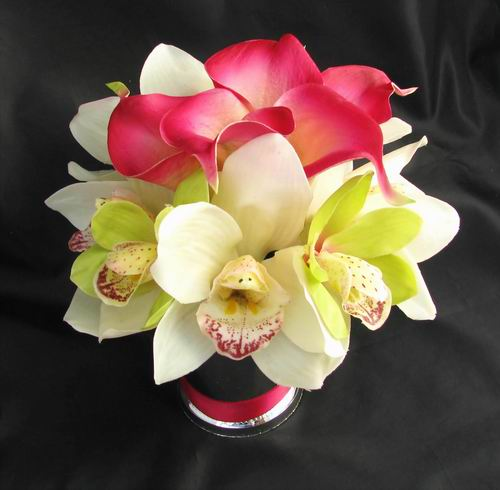 Centerpiece Natural Touch Calla Lily Orchid