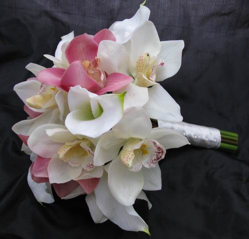 Natural Touch Bouquet Pink and Cream/White Orchid Cream ...